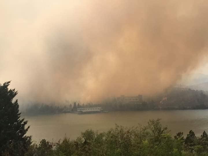 Mladost lake fire.