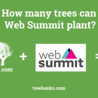 How many trees can Web summit plant?