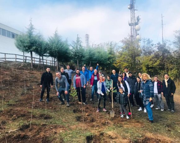 100 Trees planted at Vodno with Macedonia2025